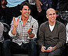 Slide Picture of Tom Cruise and Jeffrey Katzenburg at Lakers Game