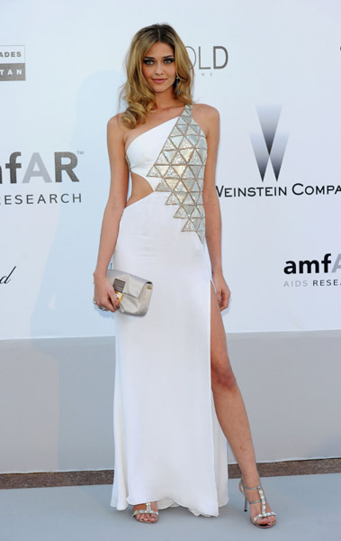 Ana Beatriz Barros works a white dress that's anything but angelic.