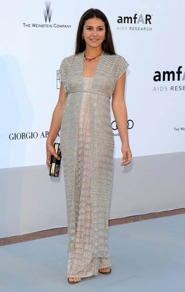 Margherita Missoni is one of the most laid-back guests in her gray Missoni maxi.