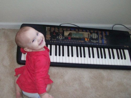 Mommy's Little Pianist