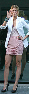 AnnaLynne McCord Wears Pink Alice + Olivia Dress