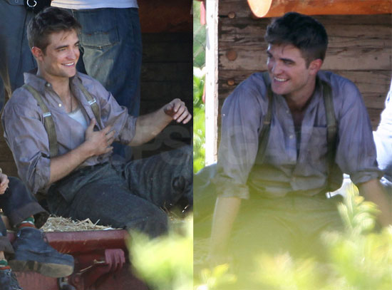 Pictures of Robert Pattinson on Set