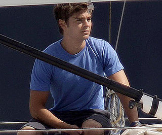 Slide Picture of Zac Efron on Set of Charlie St Cloud