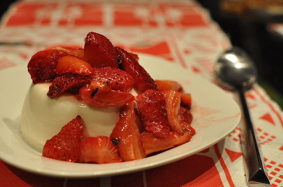Berry Tempting: Strawberry Thyme Panna Cotta