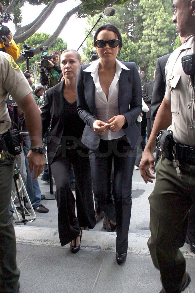 Pictures of Lindsay Lohan at Court