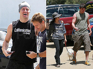 Pictures of Channing Tatum and Jenna Dewan Walking Dogs