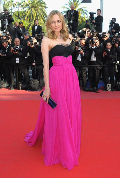 Diane Kruger in Jason Wu — wow! Her clutch is Roger Vivier.
