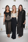 Stylish threesome: Margherita Missoni, Eugenie Niarchos, and Tatiana Santo Domingo.