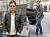 Pictures of Twilight's Peter Facinelli in London Wearing a Leather Jacket