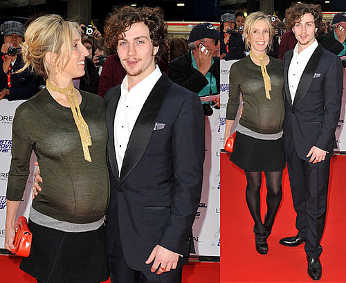 Pictures of Pregnant Sam Taylor-Wood and Her Fiance Aaron Johnson on the Red Carpet at the 2010 National Movie Awards