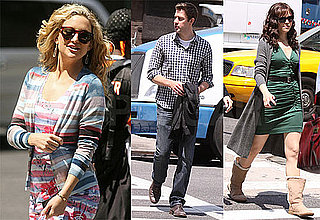 Pictures of Kate Hudson, Ginnifer Goodwin, Steve Howey and John Krasinski on the Set of Something Borrowed