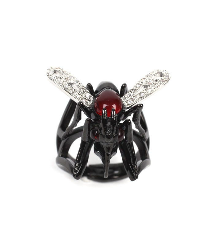 Stephen Webster Malaria No More Mosquito Ring ($85)