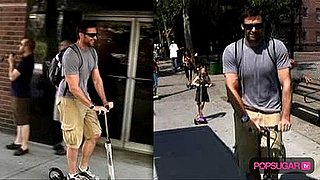 Video of Hugh Jackman and Daughter in NYC