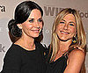 Slide Picture of Courteney Cox and Jennifer Aniston at Crystal and Lucy Awards in LA