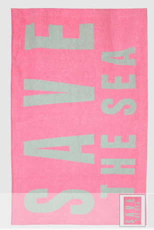 Katharine Hammett Beach for Yooxygen Save the Sea Organic Cotton Towel ($118)