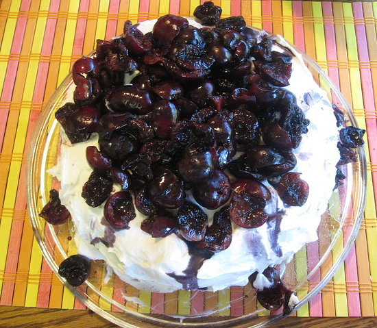 Chocolate Cherry Firehouse Birthday Cake Recipe