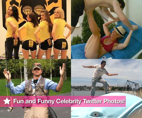 Russell Brand, Chelsea Handler, Ashton Kutcher, and Peter Facinelli in This Week's Fun and Funny Celebrity Twitter Photos!