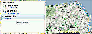 Get Biking Directions on Your BlackBerry With Google Maps