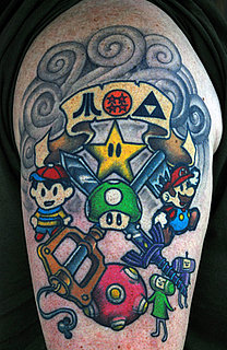 Pictures of Nintendo-Themed Tattoos