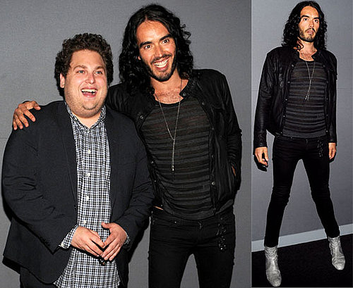 Pictures of Russell Brand and Jonah Hill Promoting Get Him to the Greek at the Apple Store in NYc, Noel Gallagher Inspiration 2010-06-03 03:15:00