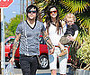 Slide Picture of Ashlee Simpson with Pete Wentz and Bronx
