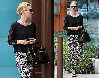Pictures of January Jones Running Errands in LA After Her Car Accident With Bobby Flay