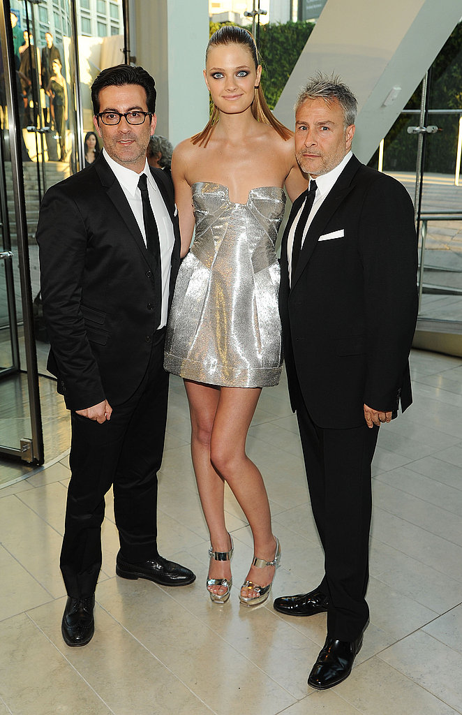 Isaac Franco and Ken Kaufman with Constance Jablonski in Kaufman Franco