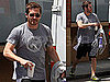 Pictures of Jake Gyllenhaal Leaving Tracy Anderson&#039;s LA Studio