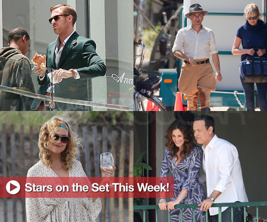 Pictures of Kate Hudson, Robert Pattinson, Julia Roberts, Tom Hanks and Ryan Gosling on Set