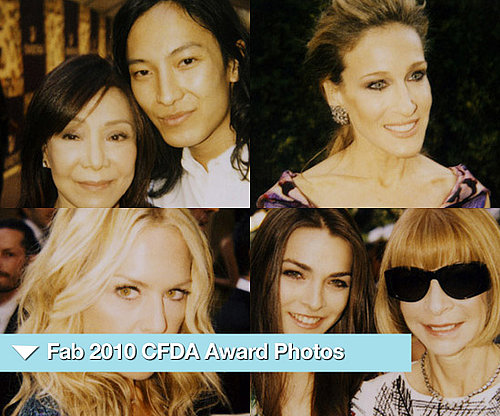 Polaroid Photos from the 2010 CFDA Awards