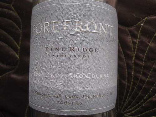 Review of 2009 Forefront Sauvignon Blanc