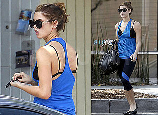 Pictures of Ashley Greene Showing Her Bra in Workout Clothes