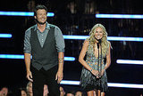 Blake Shelton and Laura Bell Bundy make a pretty cute presenting couple . . .