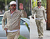 Pictures of Brad Pitt Wearing Head-to-Toe Khaki in LA