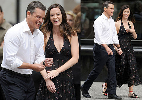 Pictures of Matt Damon and Emily Blunt Filming The Adjustment Bureau