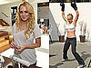 Pictures of Lindsay Lohan in A Sports Bra