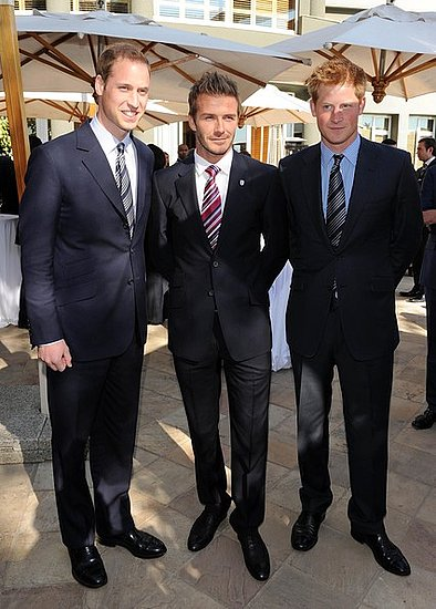 Prince William,David Beckham and Prince Harry