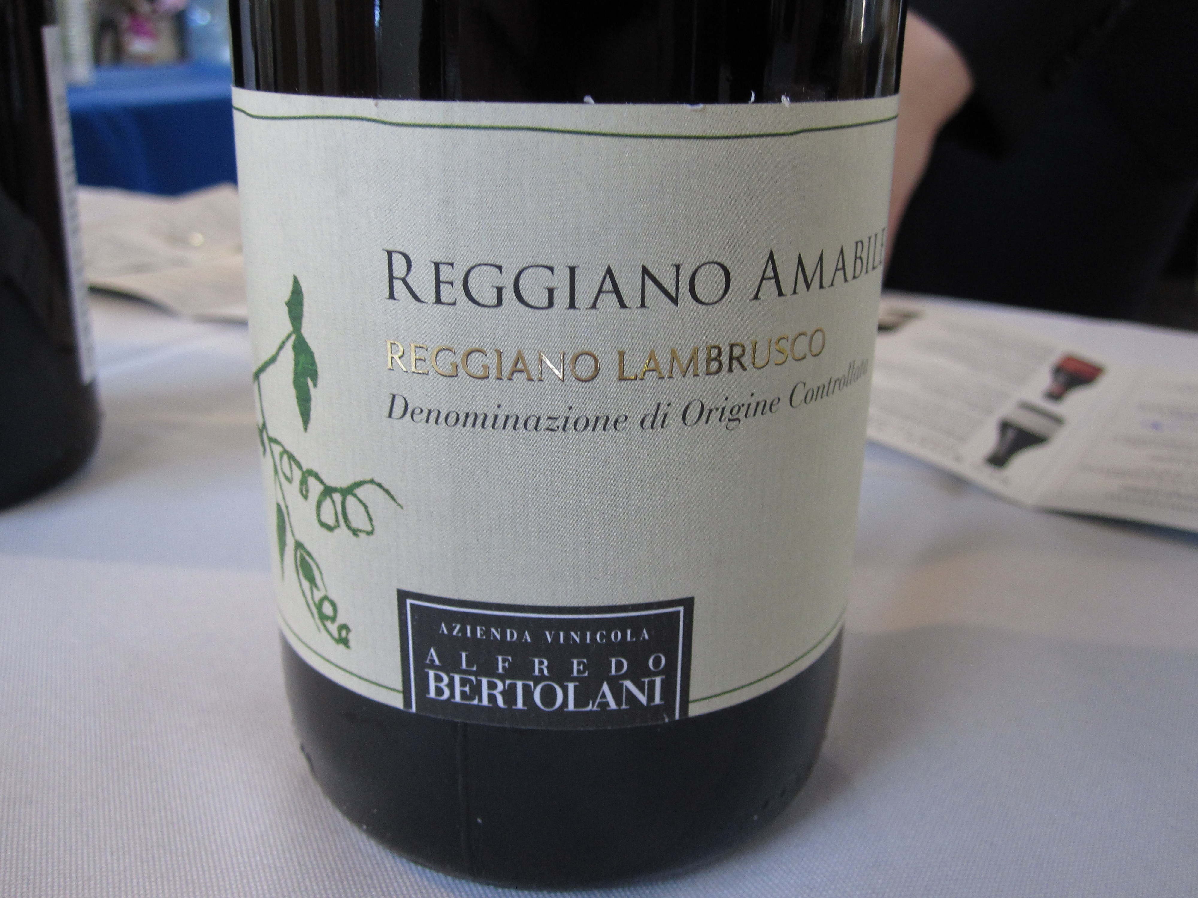 I was surprised by this sparkling red Lambrusco. It was interesting in a good way.
