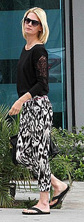 January Jones Wears Ikat Pants