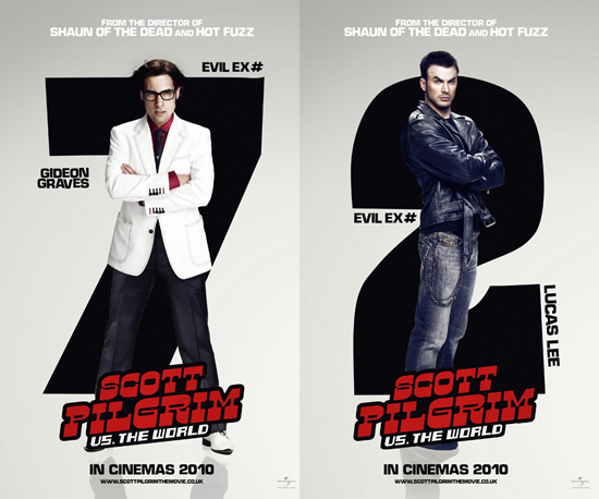 Scott Pilgrim vs. the World 7 Evil Exes Character Posters