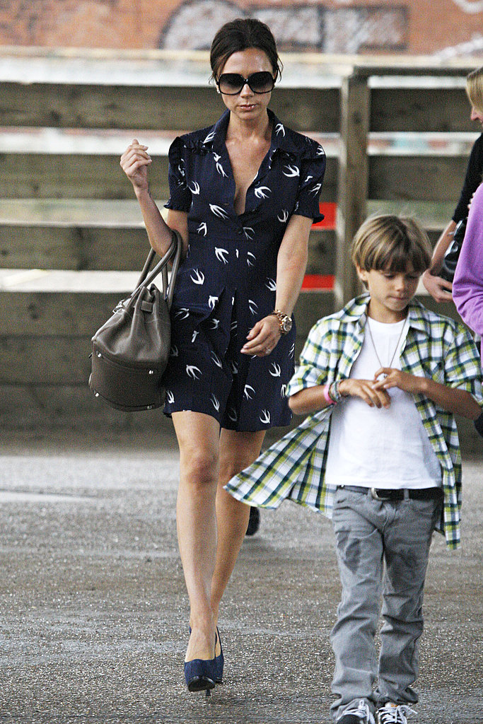 Pictures of Victoria Beckham and Boys