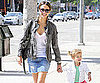 Slide Picture of Jessica Alba and Honor Warren at Urth Cafe in LA