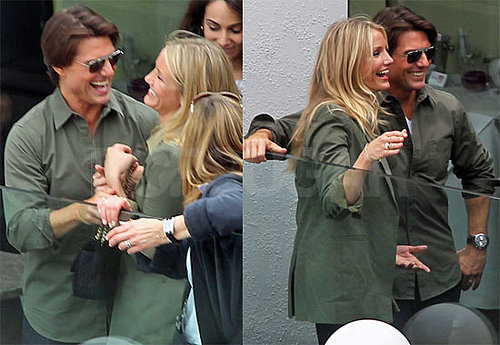 "Photos de Tom Cruise et Cameron Diaz qui assurent la promo de ""Knight and Day"" en Autriche"