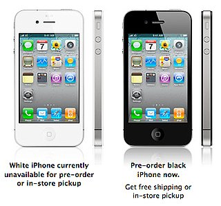 iPhone 4 Preorder Only in Black