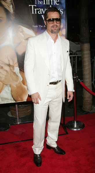 Brad Pitt — what doesn't this man look good in? Whether he's in white, black, gray, brown, or any color, he looks his best. And he always wears the coolest shades.