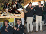 Pictures of Prince William and Prince Harry in Botswana Africa With Snakes and Cheetahs Ahead of England Algeria World Cup Match