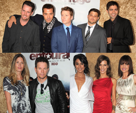 Pictures of Jeremy Piven, Kevin Connolly, Maria Menounos, Adrian Grenier, And Mark Wahlberg at The Premiere of Entourage