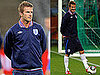 Pictures of David Beckham Practicing at a Training Session With England