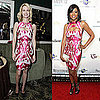 Pictures of January Jones and Taraji Henson in Same Gucci Ikat Dress