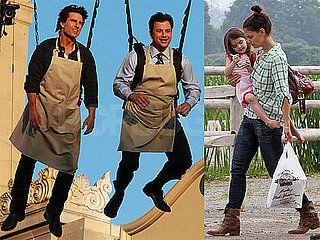 Pictures of Tom Cruise on Jimmy Kimmel and Katie Holmes Picking Strawberries With Suri